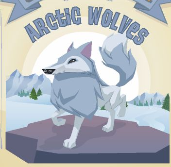 I love Animal Jam Arctic Wolves