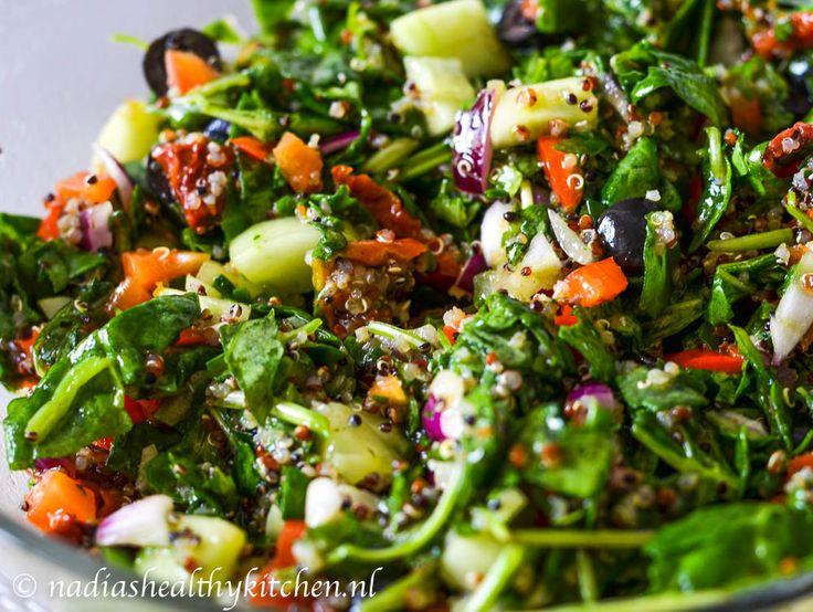 Spinaziesalade met quinoa
