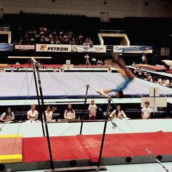 (gif of Larisa Iordache's epic save at 2014 Romanian Nationals)