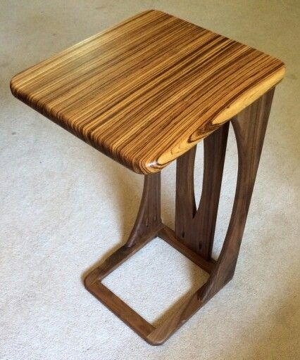 59 best side table images on pinterest laptop bed table laptop table that slides under the edge of the couch base made of black walnut and watchthetrailerfo