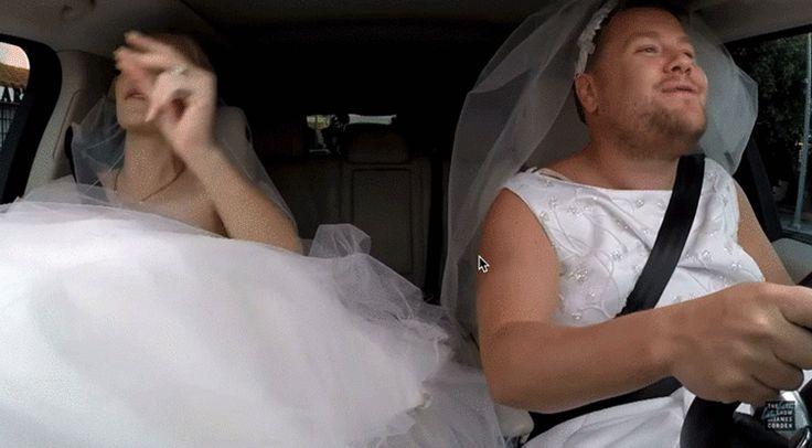 James Corden Nearly Out-Iggy-Azaleas Iggy Azalea... Iggy Azalea plans wedding, sings car karaoke with James Corden...he buys both wedding gowns & they ride in car wearing the dresses