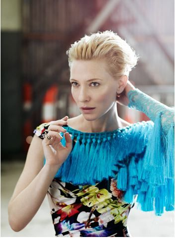 "I am loving on the tassels! Cate Blanchet wearing the label ""A romance was born"""
