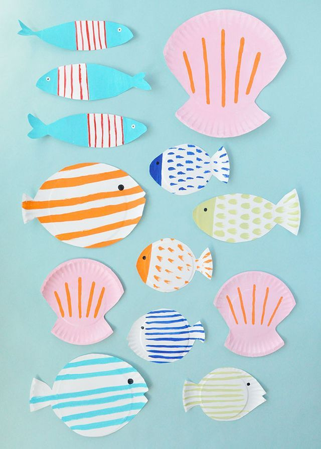 Painted Paper Plate Fish Handmade Charlotte Party Ideas Paper
