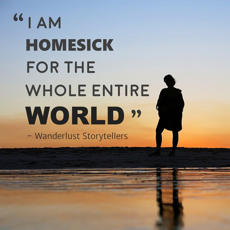 "Our quote to sum up Post Vacation Blues - ''I am homesick for the whole entire world"" - Post Travel Depression is totally real!  Read our post to find the symptoms as well as some strategies to combat it!"