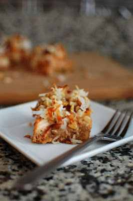 Fall 7 Layer Bars (try a spiced homemade apple sauce/butter..., toffee chips, pecans/walnuts)