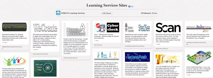 Check out the Pinterest Board of amazing programs and websites from #NSWCLICLS Learning Services Teams: http://ow.ly/aSXCc