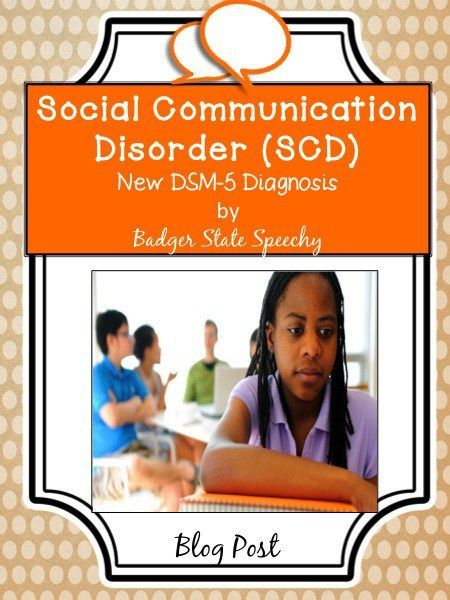 Blog post about Social Communication Disorder!
