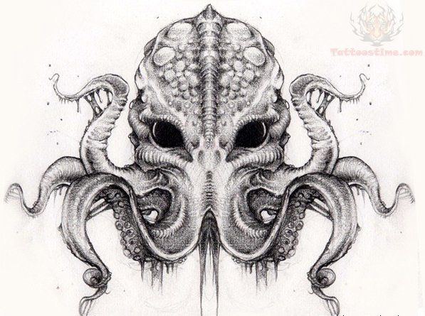Best 10 Cthulhu tattoo ideas on Pinterest Squid tattoo Creepy