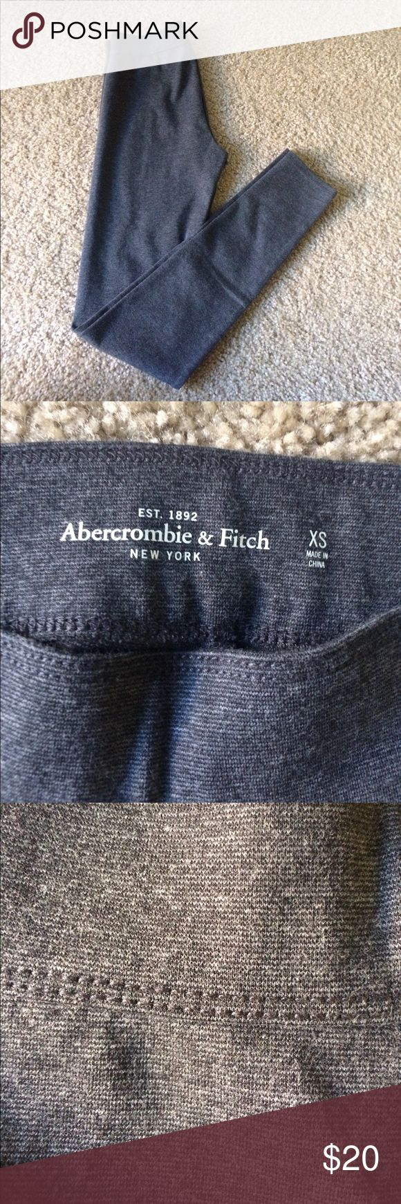 "NWOT gray Abercrombie and Fitch leggings Slightly marled gray leggings from Abercrombie and Fitch. Regular rise length, have never been worn. 27"" inseam Abercrombie & Fitch Pants Leggings"