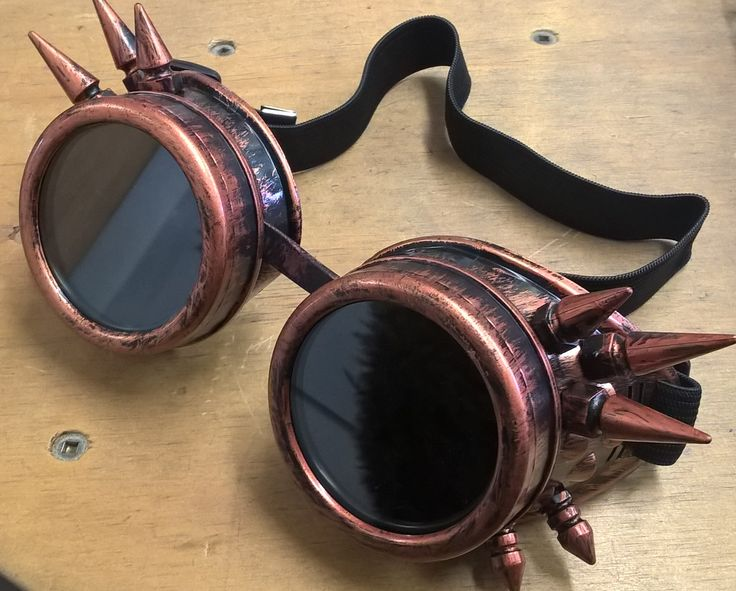 Steampunk goggles - also available in black and hot pink.