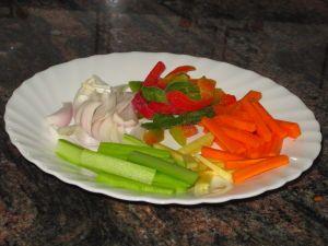 Chop suey de ternera picante ingredientes