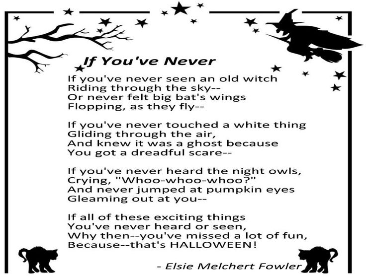 halloween poems with rhyme