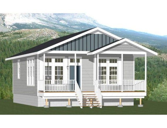 26x32 House 2 Bedroom 2 Bath 832 Sq Ft Pdf Floor Plan Etsy Small House Design Small House Floor Plans Floor Plans