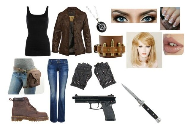 """""""Supernatural-My hunter outfit"""" by thespine ❤ liked on Polyvore featuring STS Ranchwear, NIC+ZOE, ONLY, Dr. Martens, OPI, Switchblade Stiletto and supernatural"""