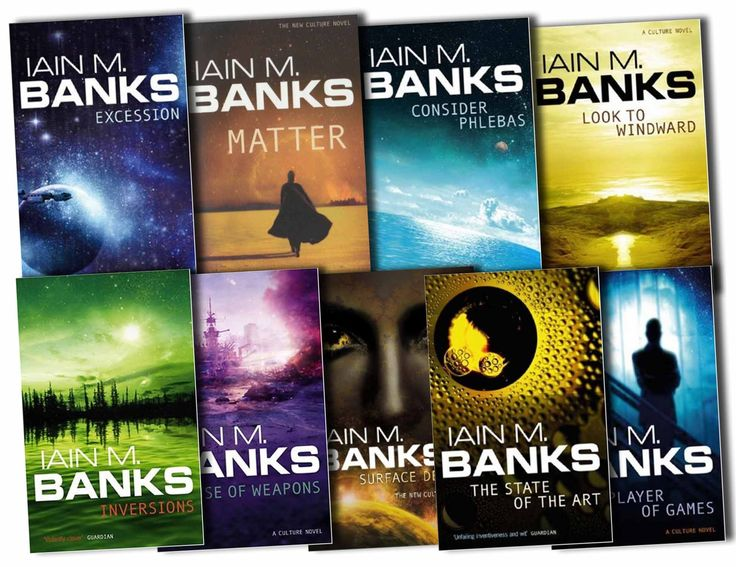 Best Iain M Banks covers, and the best sci fi series EVER