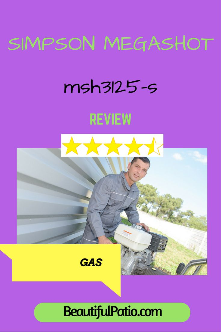 Simpson Megashot msh3125-s review. The most powerful gas pressure washer for home use?