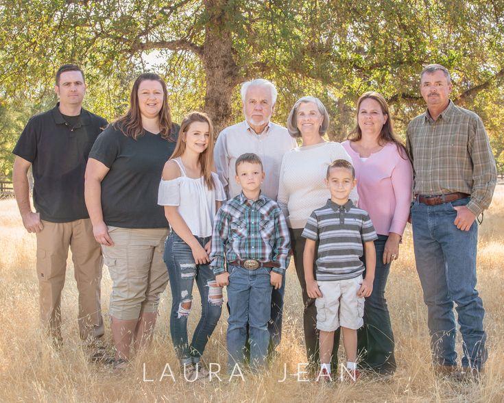 Titus Family Photos Redding, Ca Group of 9 Family