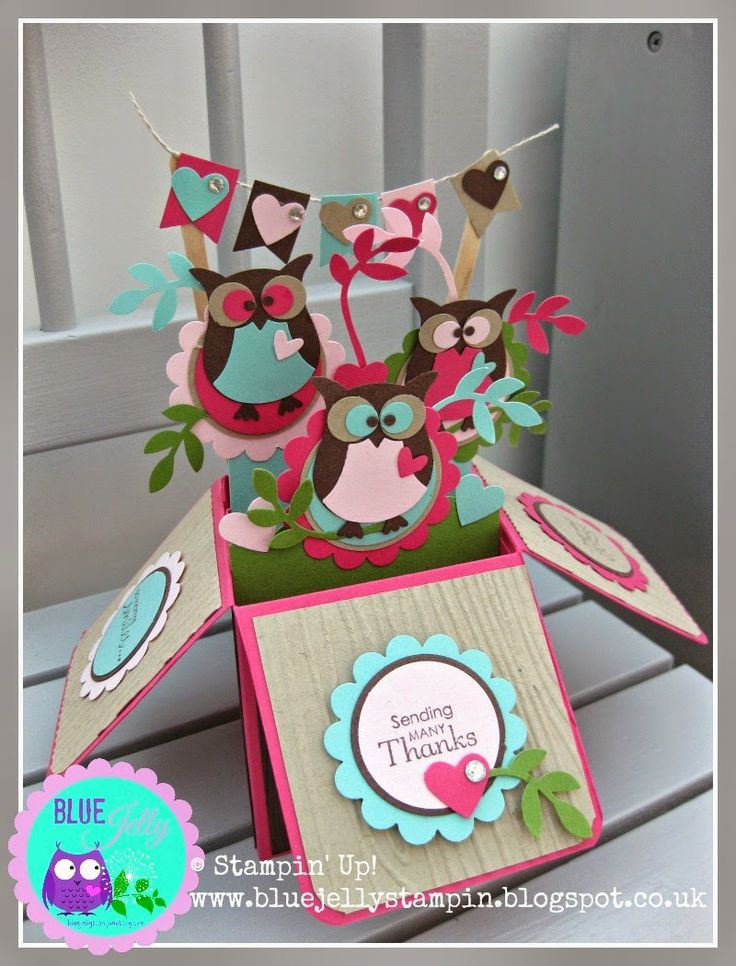Stampin' Up! Owl Punch Pop Up Box