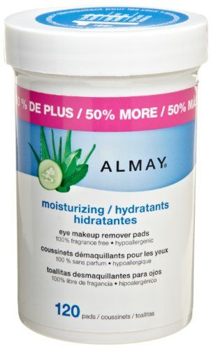 Almay Moisturizing Eye Makeup Remover Pads, 120 Pads $7.99-Could not do without these.