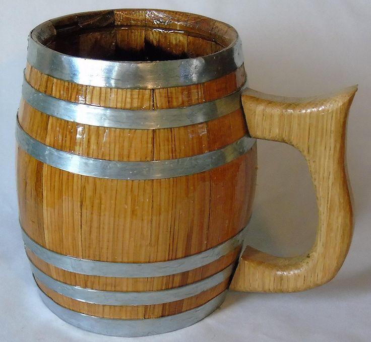 Oak Barrel Mug – 1 Liter