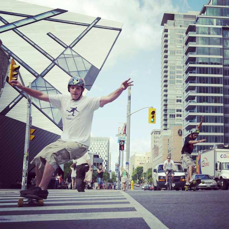 Longboarding on Bloor St