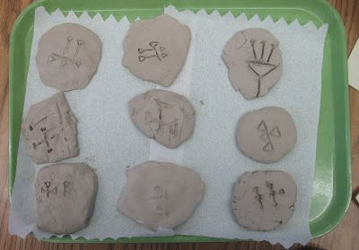 Cuneiform writing on clay tablets--a fun Sixth Grade Social Studies activity