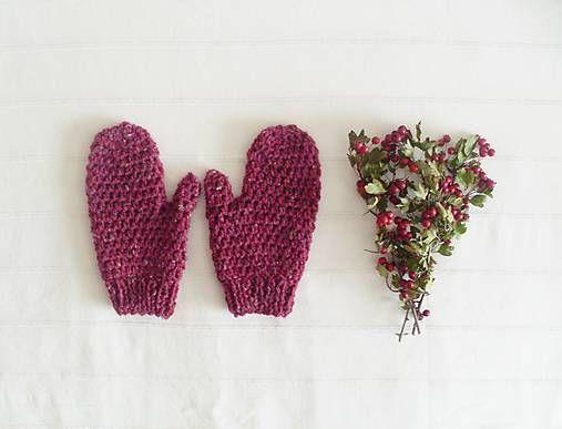 BeasArt / červené rukavice. country tweed