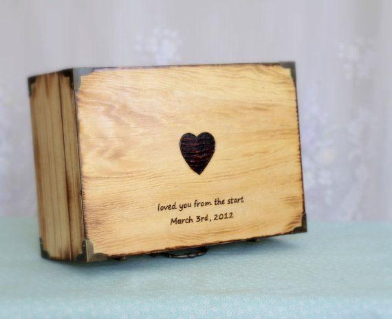 Personalized Wood Letter Box Memory Box Treasure Chest