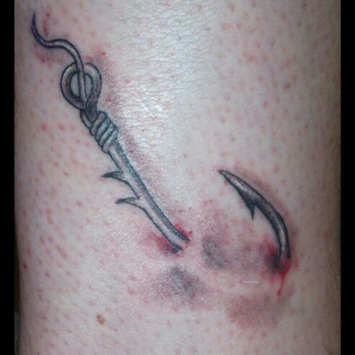 Fishing Hook Tattoo