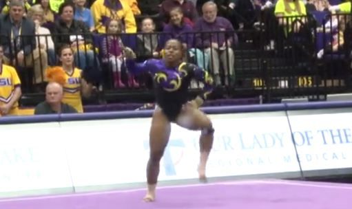 LSU gymnast keeps scoring perfect 10s for this incredible floor routine