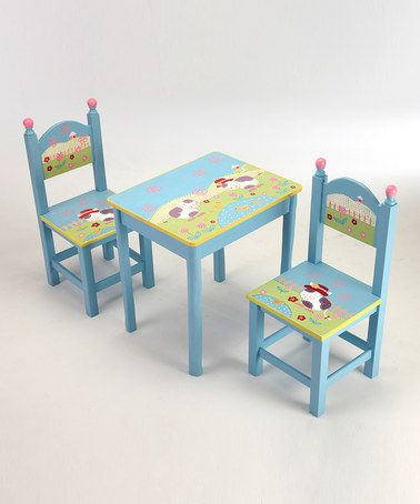 Kids Table And Chairs Set Wooden Play Room Toddler Child Game Toys  moocow table chair set cow table kids table and chairs table set table ...