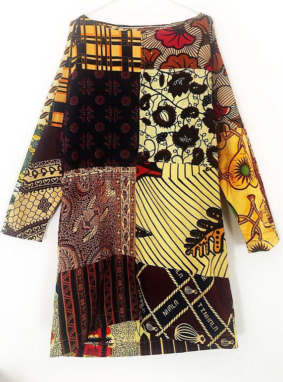 Long sleeve Carla dress African clothing dress