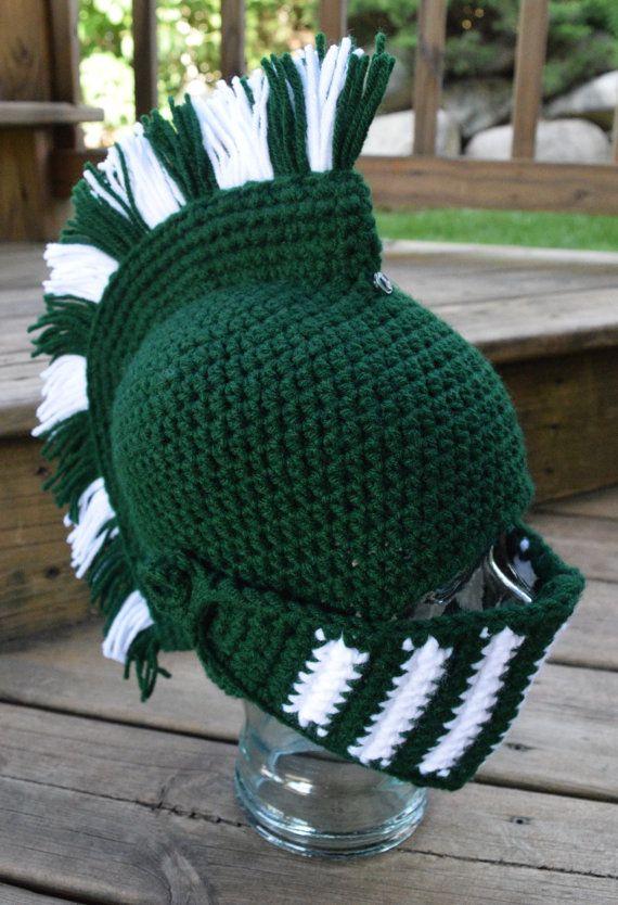 a061110a9 Spartan Helmet | Knight/Trojan/Greek | Gladiator | Crochet Hat ...