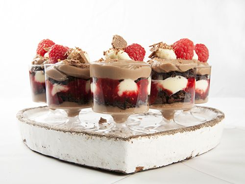 Chocolate Brownie Christmas Trifle
