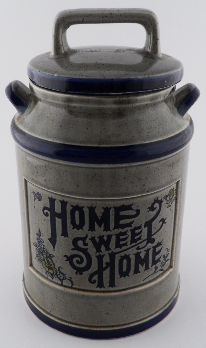 Vintage Milk Can Ceramic Cookie Jar - Home Sweet Home