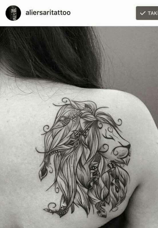lion on skin