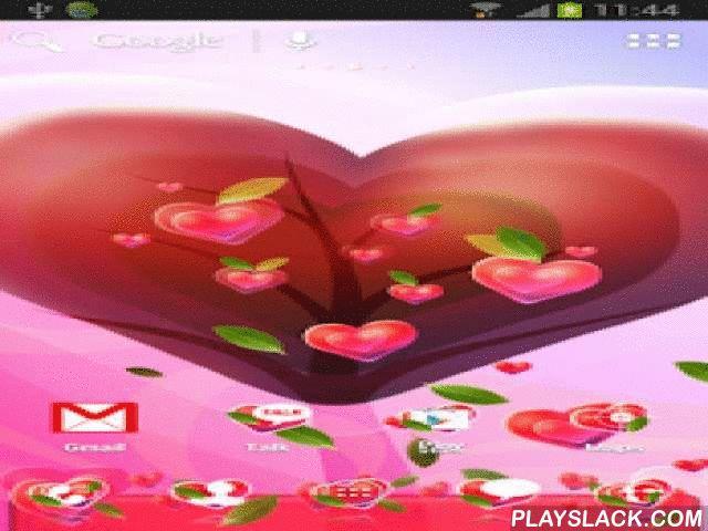 Valentine Heart Theme For ADW  Android App - playslack.com ,  Aanvraag voor ADW Launcher met een hart motief . Wallpaper is een groot hart , als een boom groeit kleiner met Korah hartboom achtergrond is roze . Achtergrond van het hoofdmenu van de toepassing is ook een hart boom . Elk pictogram heeft een rood hart op de achtergrond en bladeren . Grote iconen zijn vervangen door wit rood . Als je een romantisch of in de liefde niet te wachten op Valentijnsdag , nu Download deze mooie app…