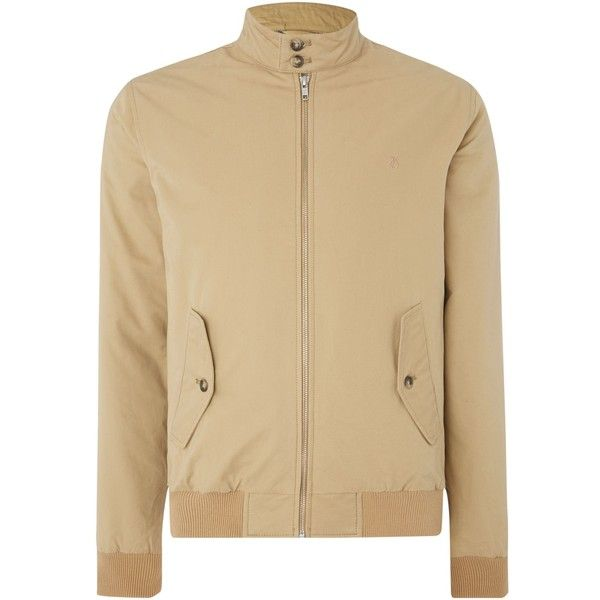 Peter Werth Marshal Padded Cotton Harrington Jacket (€58) ❤ liked on Polyvore featuring men's fashion, men's clothing, men's outerwear, men's jackets, sale men coats and jackets, mens padded jacket, mens cotton jacket, mens harrington jacket and mens jackets