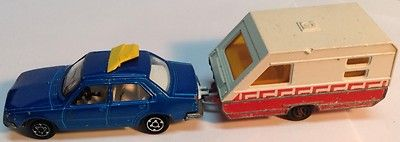 Majorette renault 18 1/60 & caravane 1/70 vintage diecast