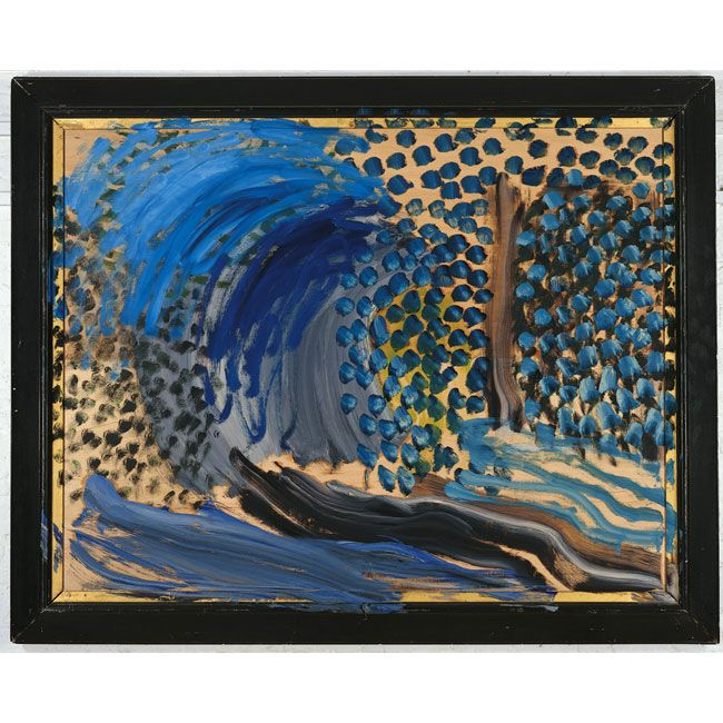 Howard Hodgkin Blue Remembered Hills 2002-03 Oil on wood.