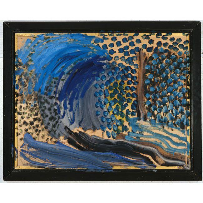 Howard Hodgkin  Blue Remembered Hills 2002-03  Oil on wood.