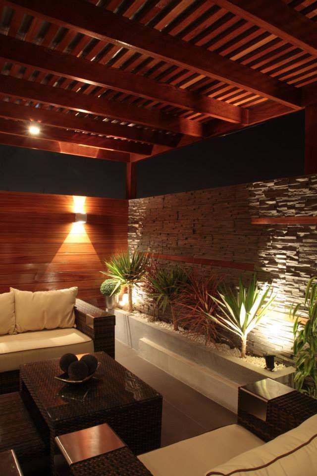 17 mejores ideas sobre patio trasero para piscinas en - Luces led para terrazas ...