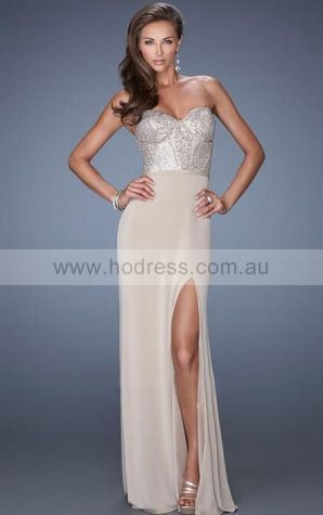 Sleeveless Sweetheart Zipper Polyester Floor-length Formal Dresses zvh120--Hodress