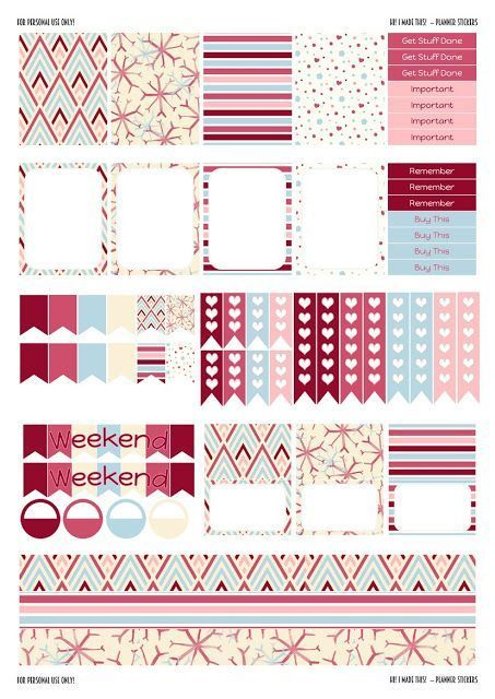 Hi! I made this!: Free Printable Planner Stickers - Winter Themed - ...