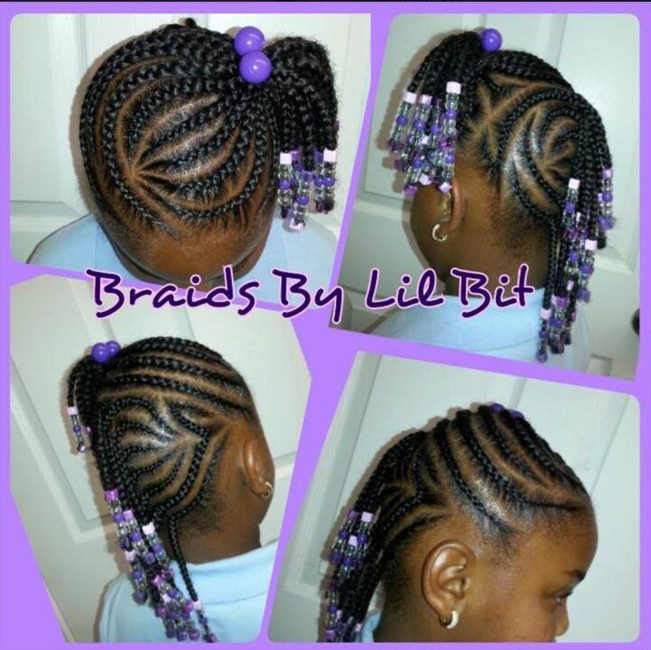 Stupendous 1000 Images About Little Girl Hair Braided Styles On Pinterest Short Hairstyles For Black Women Fulllsitofus