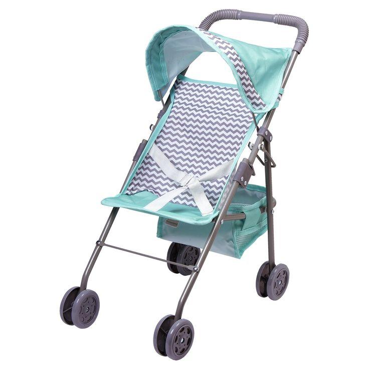 Adora Zig-Zag Medium Shade Umbrella Baby Doll Stroller