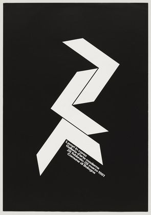 exhibition poster by A.G. Fronzoni (1981)