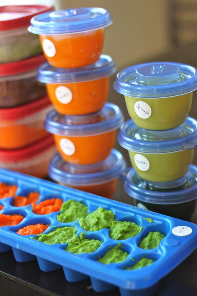 **She made all at once I do once a week or so, also I do flexible ice trays for C and it works like a charm. Lastly I use immersion blender...easier clean up**Making Baby Food 101 - Recipes, Grocery Lists and Storage Methods