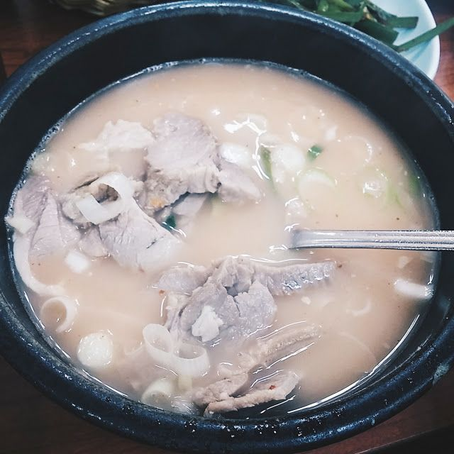 Pork Soup with Rice  #Busan #Food