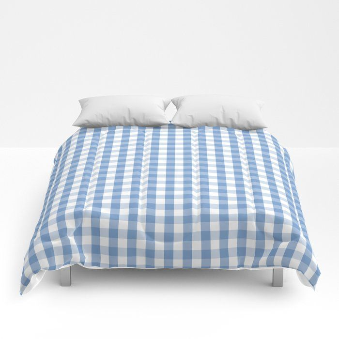 Buy Classic Pale Blue Pastel Gingham Check Comforters By Podartist Worldwide Shipping Available At Society6 Com Just One Comforters Bed Pillows Gingham Check